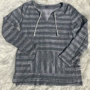 Grey Striped Aerie Sweater